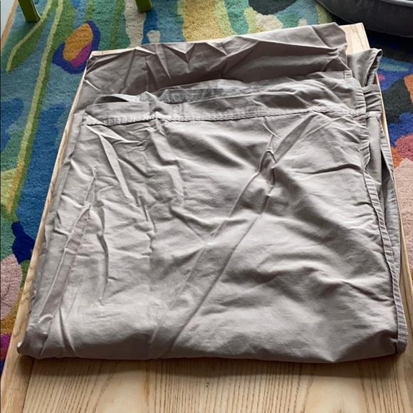 Ralph Lauren soft sateen tan flat sheet